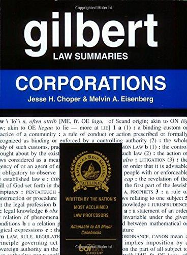 9780159003428: Gilbert Law Summaries: Corporations