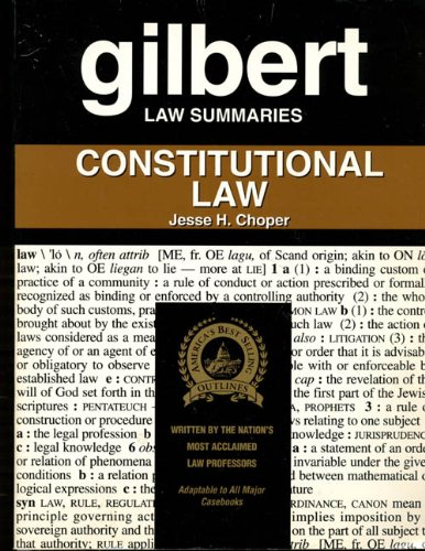 9780159003756: Gilbert Law Summaries: Constitutional Law