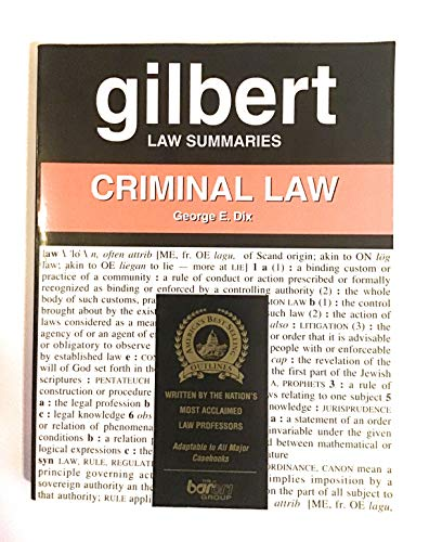 9780159005071: Gilbert Law Summaries: Criminal Law