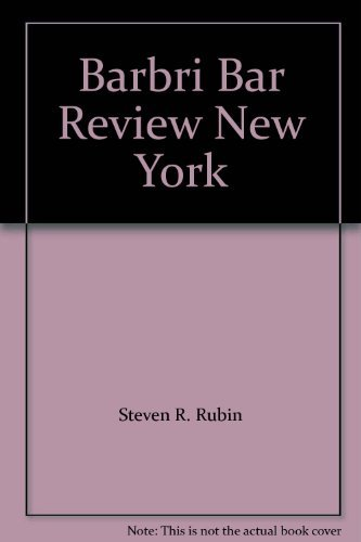 9780159006351: Barbri Bar Review New York