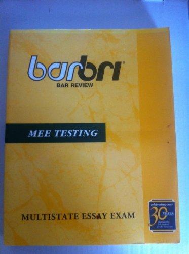 9780159007143: Barbri MEE Testing, Multistate Essay Exam