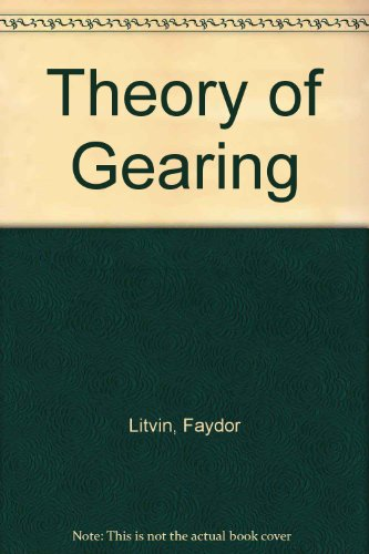 9780160042744: Theory of Gearing