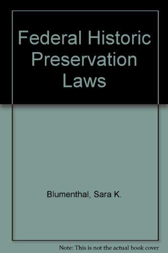 9780160450419: Federal Historic Preservation Laws