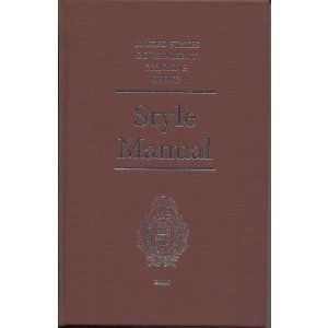 9780160500824: The United States Government Printing Office Style Manual 2000