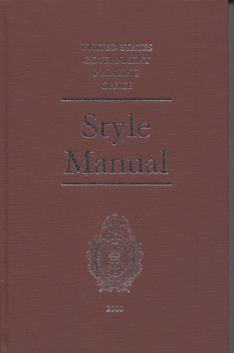 9780160500831: The United States Government Printing Office Style Manual 2000