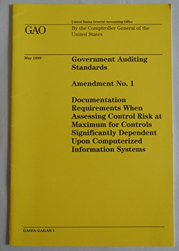 9780160501296: Government Auditing Standards 1994: Amendment #1