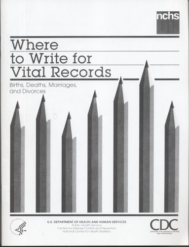 9780160513947: Where to Write for Vital Records: Births, Deaths, Marriages, and Divorces