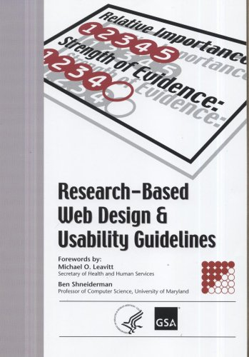 9780160762703: Research-Based Web Design & Usability Guidelines