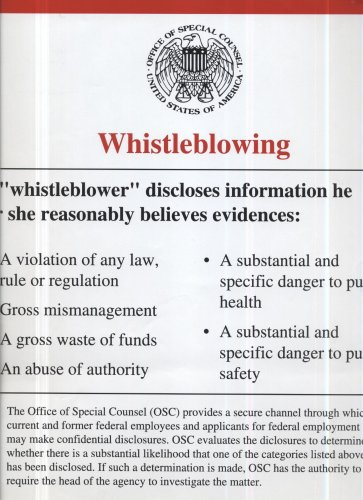 9780160772290: Whistleblowing (Poster)