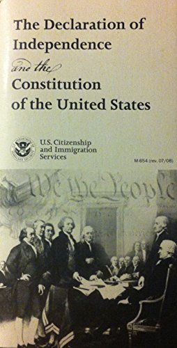 9780160785825: The Declaration of Independence and the The Constitution of the United States