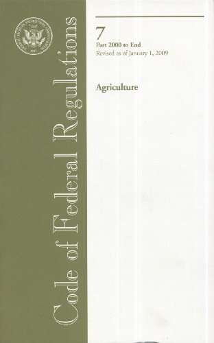 Code of Federal Regulations, Title 7, Agriculture,: n/a