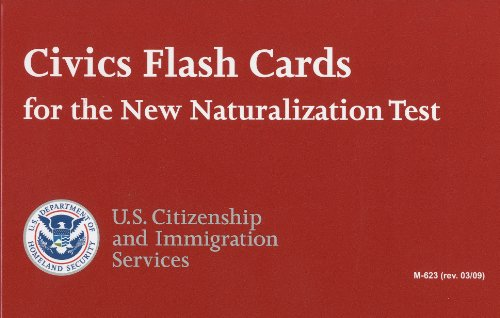 Civics Flash Cards for the New Naturalization