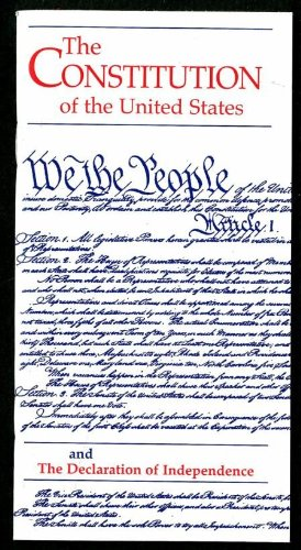9780160891847: Constitution of the United States and the Declaration of Independence