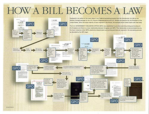 9780160914164: How A Bill Becomes A Law Poster: Package of 25 copies