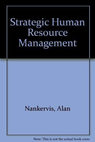 9780170094733: Strategic Human Resource Management