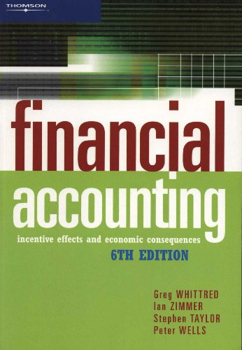 Financial Accounting: Incentive Effects and Economic Consequences: Whittred, G. P.