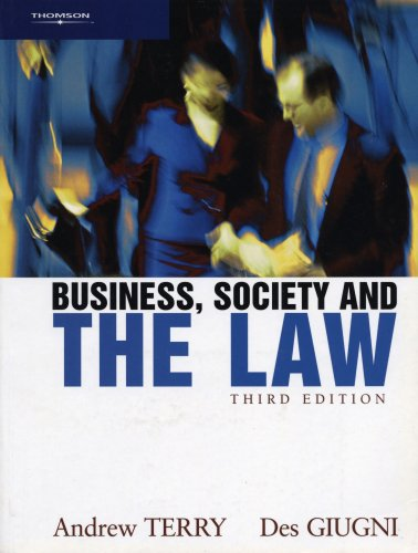 Business, Society and the Law: Andrew Terry, Des