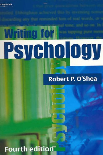 9780170107853: Writing for Psychology: An Introductory Guide for Students