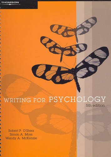 9780170128544: Writing for Psychology