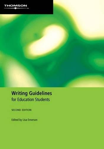 9780170133913: Writing Guidelines for Education Students