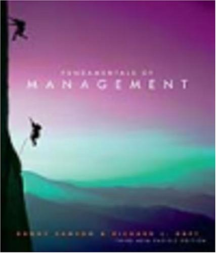Fundamentals of Management (0170136736) by Danny Samson; Richard L. Daft