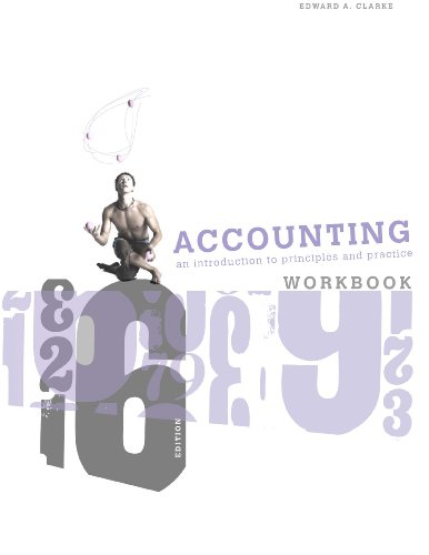 9780170178372: Accounting: An Introduction to Principles and Practice Workbook