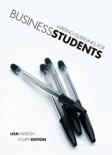 9780170182393: Writing Guidelines for Business Students