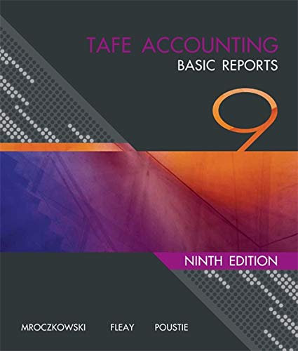 9780170187909: TAFE Accounting: Basic Reports
