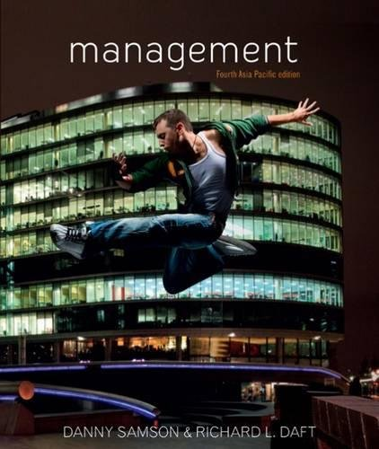 9780170192705: Management: fourth Asia Pacific Edition