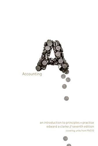 9780170213196: ACCOUNTING WORKBOOK AN INTRODUCTION TO PRINCIPLES AND