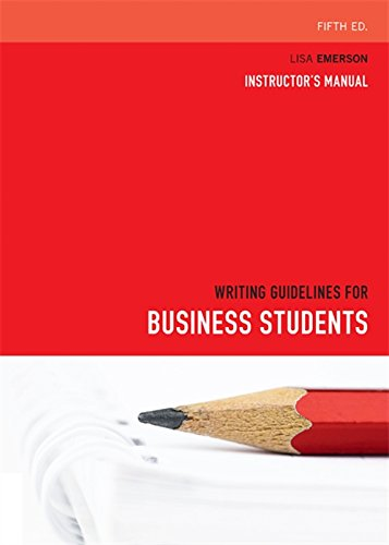 9780170216388: Writing Guidelines for Business Students