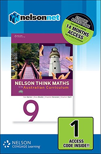 9780170219136: Nelson Think Maths 9 for the Australian Curriculum Access Card 1 Yr