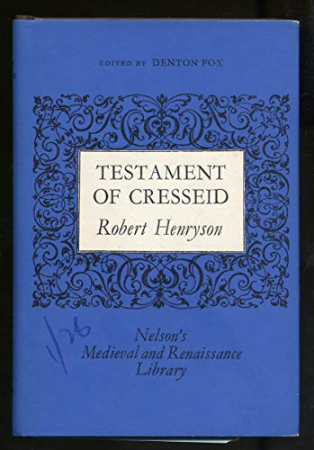 9780171731095: Testament of Cresseid (Medieval and Renaissance library)
