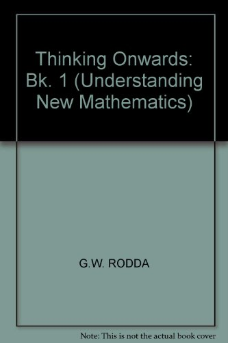 9780174210429: Thinking Onwards: Bk. 1 (Understanding New Mathematics)