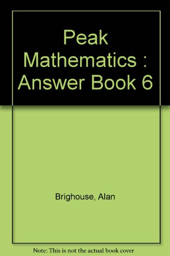 9780174213208: Peak Mathematics : Answer Book 6