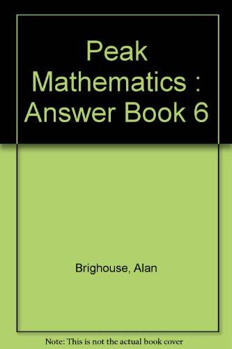 9780174213208: Peak Mathematics : Answer Book 6