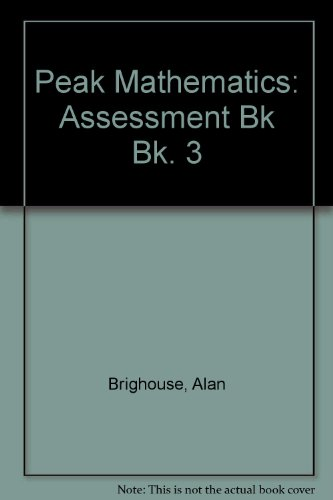 9780174213932: Peak Mathematics: Assessment Bk Bk. 3