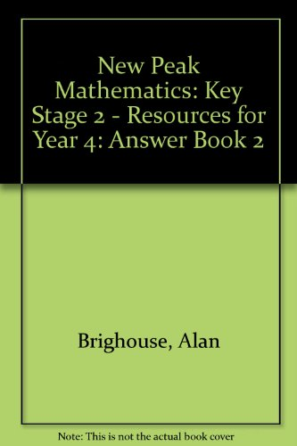 9780174216896: New Peak Mathematics: Key Stage 2 - Resources for Year 4: Answer Book 2