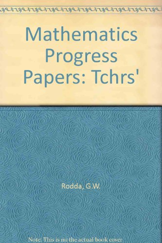 9780174243809: Mathematics Progress Papers: Tchrs'