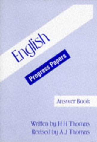 9780174244783: English Progress Papers: Tchrs'