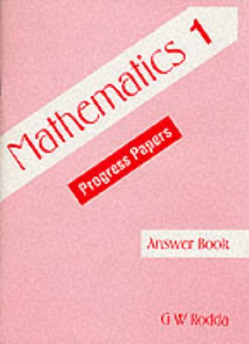 9780174244868: Mathematics 1: Progress Papers, Answer Book: Tchrs'