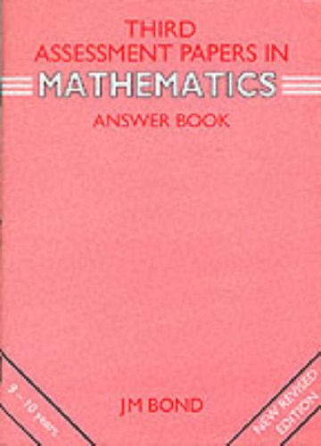 9780174245063: Third Assessment Papers in Mathematics - Answer Book: 3rd Year Papers