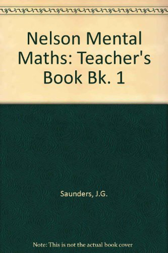 9780174300168: Nelson Mental Maths: Teacher's Book Bk. 1