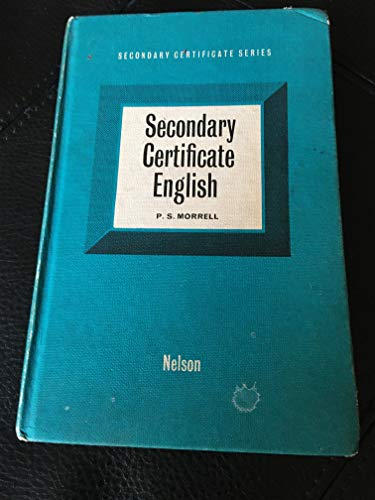 9780174330028: Secondary Certificate English (Secondary Certificate series)