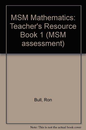 9780174386506: MSM Mathematics: Teacher's Resource Book 1 (MSM assessment)