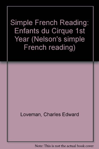 9780174390169: Simple French Reading: Enfants du Cirque 1st Year