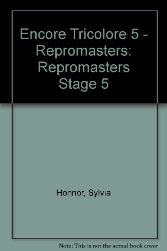9780174399285: Encore Tricolore 5 - Repromasters: Repromasters Stage 5