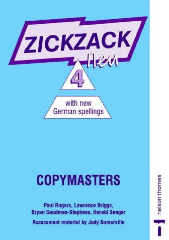 9780174403579: Zickzack Neu: Copymasters with New German Spellings Stage 4 (Zickzag Neu)