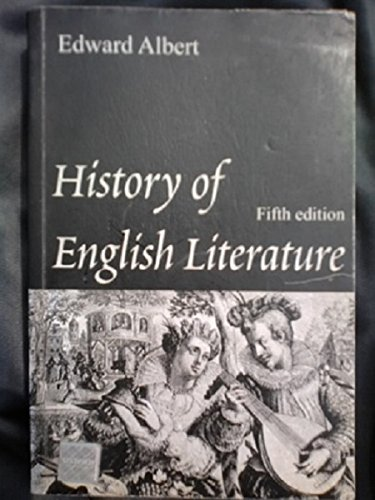 9780174441267: A History of English Literature