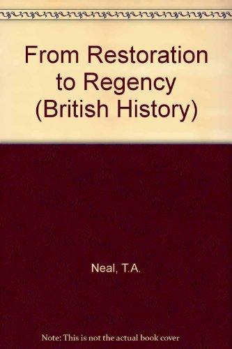 9780174451341: From Restoration to Regency (British History)